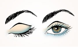 Learn how to create a luxurious eye look by applying eyeliner first.